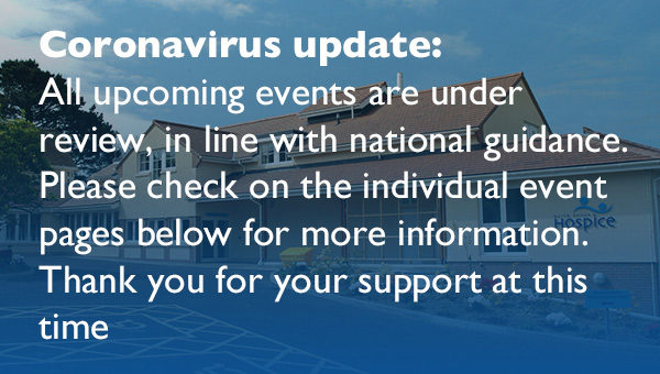 Coronavirus update - all upcoming events are under review.
