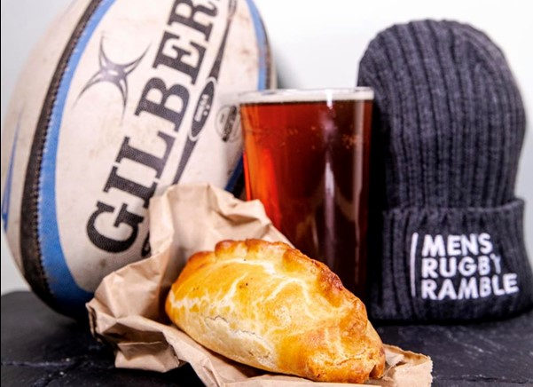 Ball, hat, pint, pasty